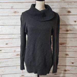 Jeanne Pierre Gray Cowl Neck Sweater - Size Medium